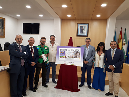 Presentación del cupón de la ONCE dedicado a la patrona de Mairena del Alcor