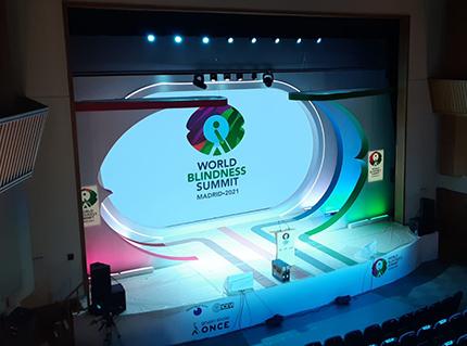 Imagen del escenario de la WBS Madrid 2021