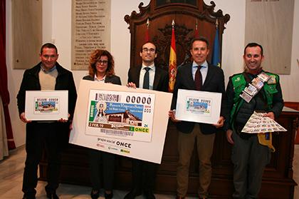Presentación del cupón de la ONCE dedicado a la Romería de la Virgen de la Salud, de La Hoya, Lorca