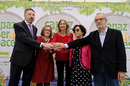 Cristóbal Martínez, Imelda Fernández, Patricia del Pozo, Isabel Viruet y Juan Manuel Flores