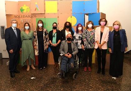 Imagen de los galardonados con los Premios Solidarios ONCE Aragón 2021