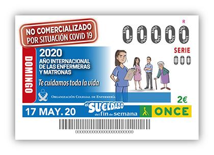 Cupón de la ONCE dedicado a 2020 Año Internacional de Enfermeras y Matronas
