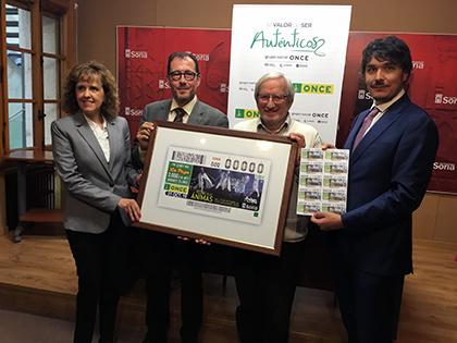 Presentación del cupón de la ONCE dedicado al Festival de las Ánimas, de Soria