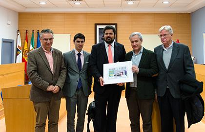 Presentación del cupón de la ONCE dedicado a la XXXI edición de Agroexpo, en Don Benito