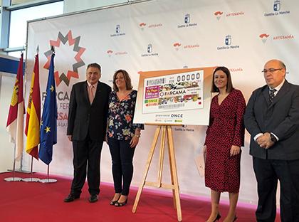 Presentación del cupón dedicado a la XXXIX Feria de Artesanía de Castilla-La Mancha