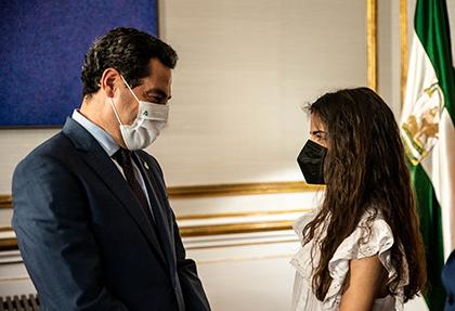 Juan Manuel Moreno y  Laura Diepstraten