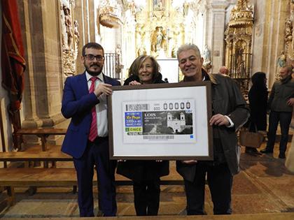 Presentación del cupón de la ONCE dedicado a la localidad de Lois