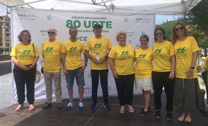 Foto de familia de la entrega del Cascabel de Oro en Donostia-San Sebastián