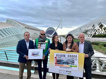 Presentación del cupón de la ONCE dedicado a la Maratón Valencia Trididad Alfonso