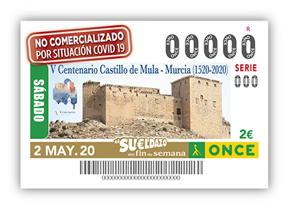 Cupón ONCE Castillo de Mula