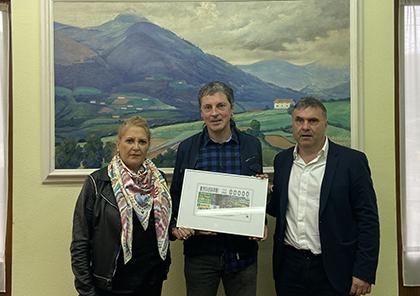 Presentación del cupón de la ONCE dedicado al Valle de Baztan