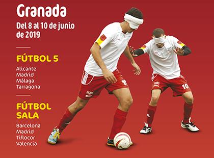 Cartel del Campeonato de España Fútbol 5 y Fútbol Sala