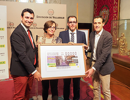 Presentación del cupón dedicado a Medina de Ríoseco, Premio Reina Letizia de Accesibilidad