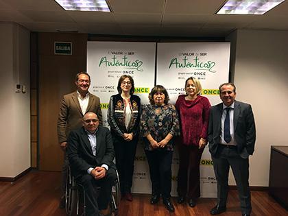 Varios de los miembros del Jurado de los Premios Solidarios ONCE Madrid 2019