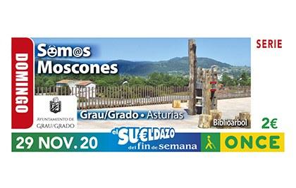 Cupón de la ONCE dedicado al gentilicio de Grau (Grado) Asturias