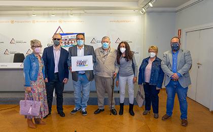Foto de familia de la presentación del cupón dedicado al gentilicio de Trijueque