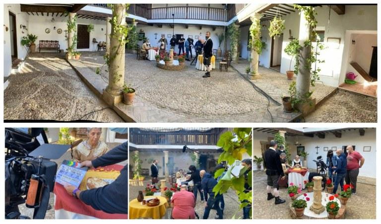 Collage con varios momentos de la grabación de La Luciérnaga