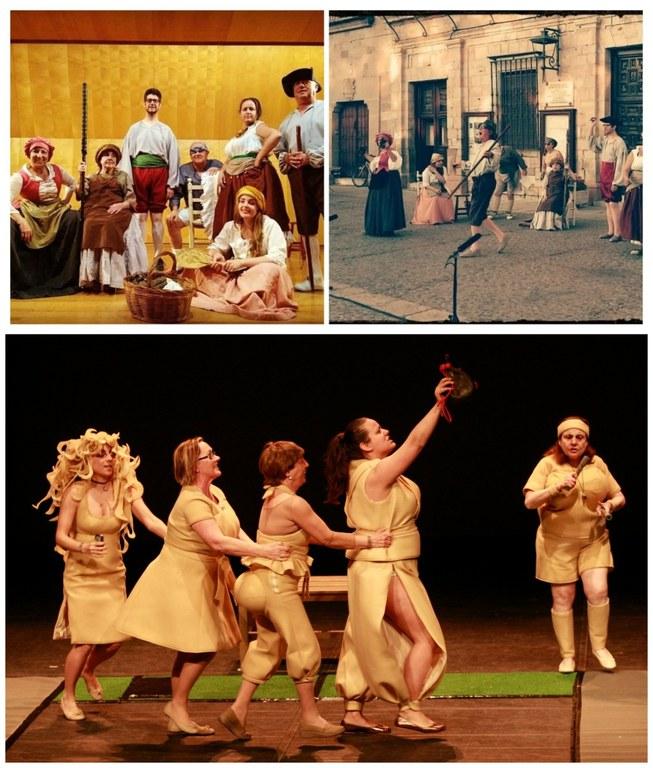Collage con varios momentos de Samaruc Teatre