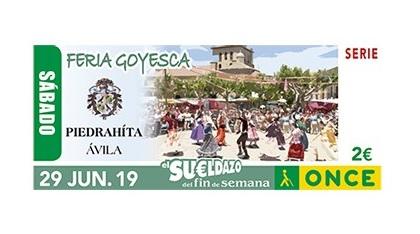 Cupón dedicado a la Fiesta Goyesca de Piedrahita