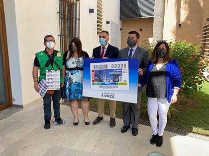 Presentación del cupón dedicado al gentilicio de La Palma del Condado