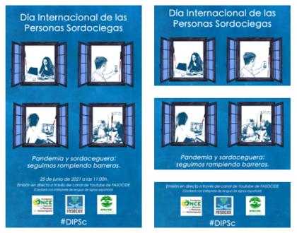 Cartel Día Internacional de la Sordoceguera 2021