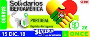 Cupón dedicado a Portugal, dentro de la serie 'Solidarios con Iberoamérica'