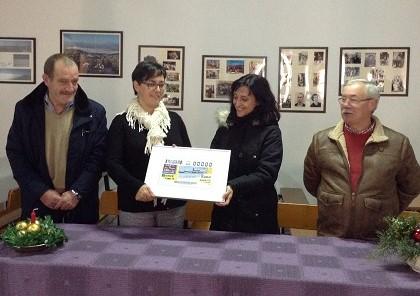 Presentación del cupón de la ONCE dedicado a la localidad de Recuerda