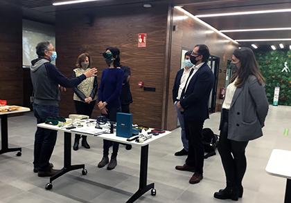 Un momento del recorrido por la sede de la ONCE en Ávila