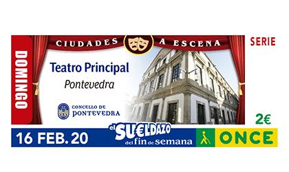 Cupón de la ONCE dedicado al Teatro Principal de Pontevedra