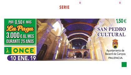 Cupón de la ONCE dedicado a San Pedro Cultural