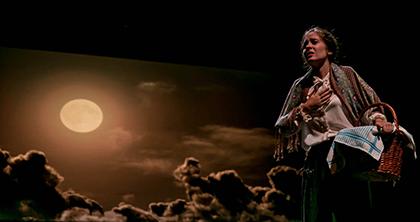 Una escena de Yerma, interpretada por Tiflonuba