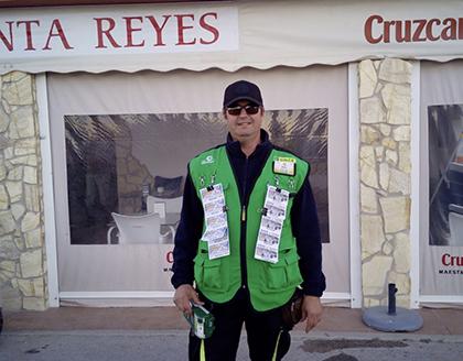Luis García Roldán vendedor de la ONCE que ha dado un Sueldazo en Conil