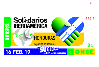 Cupón de la ONCE dedicado a Honduras