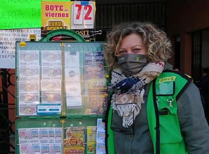 Josefa Porras, vendedora de la ONCE que ha dado un Sueldazo en Pino Montano