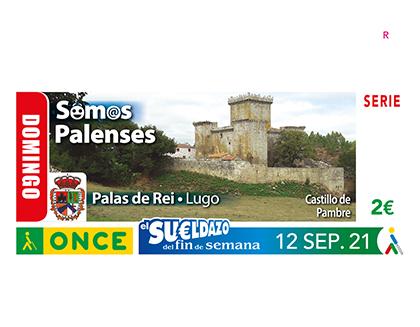 Cupón dedicado al gentilicio palense, de la localidad de Palas de Rei, Lugo