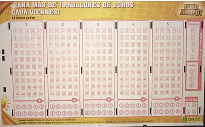 Boleto del Eurojackpot