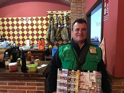 Fermín García Sánchez, vendedor de la ONCE que ha dado un Sueldazo en El Viso del Alcor, Sevilla