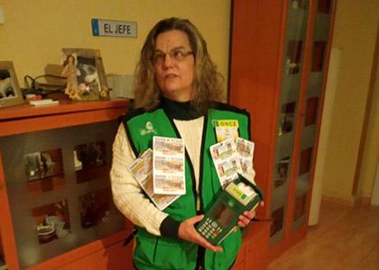 Rosa Pinto, vendedora de Girona que ha dado el premio