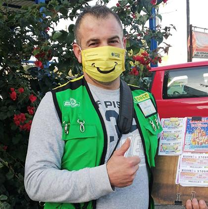 Juan Carlos Sánchez vendedor de la ONCE que ha dado un Sueldazo en Jimena