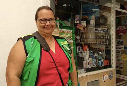 Mª Ángeles Sánchez, vendedora que ha llevado la suerte a Puerto Real