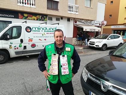 José Miguel Izquierdo, vendedor de la ONCE que ha dado un Sueldazo en Rota