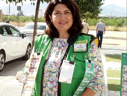 Ascensión Baides vendedora de la ONCE que ha dado un Sueldazo en Torremolinos