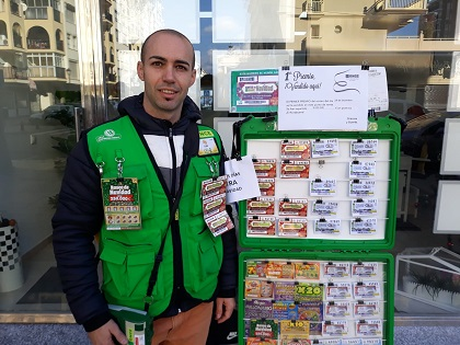 Luis Pino, vendedor de la ONCE que ha vendido en Fuengirola un Cuponazo premiado con 9 millones de euros
