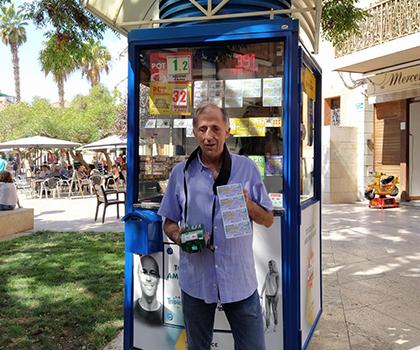 Tomás Pardo, el vendedor de la ONCE que ha dado el Cuponazo en Gavá