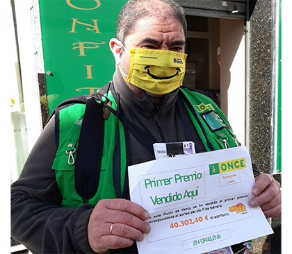 Imagen de Francisco Javier MIllán, vendedor de la ONCE en Villa del Río