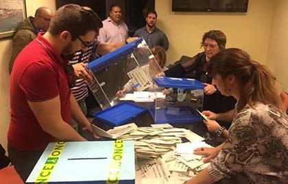 Escrutinio de las elecciones de la ONCE en el País Vasco