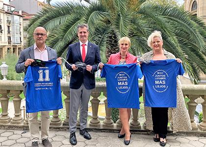 Presentación de la Carrera de Cascabeles ONCE Donostia 2019
