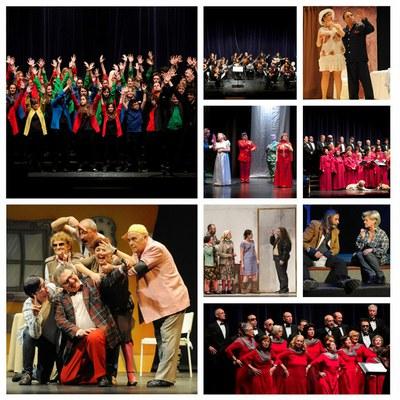 Collage con diferentes grupos de música y teatro