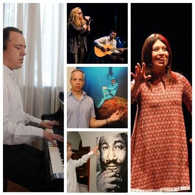 Collage con varios de los artistas que están en promoción cultural