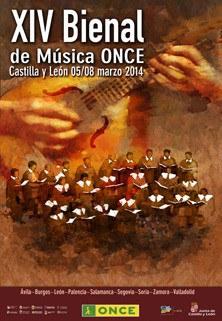 Cartel de la XIV Bienal de Música ONCE 2014